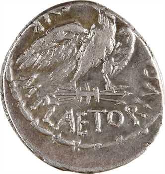 Plaetoria, denier, Rome, 67 av. J.-C