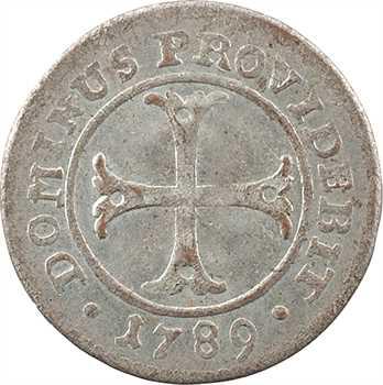 Suisse, Berne (canton de), 2 kreuzer (1/2 batzen), 1789 Berne