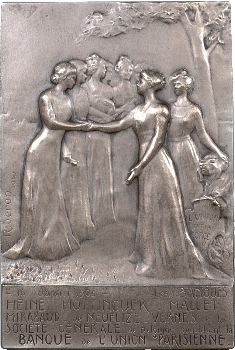 IIIe république, Riberon : plaque pour le banquier Georges Heine, 1910