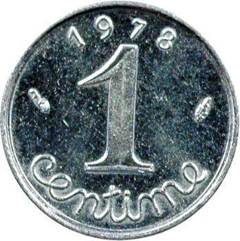 Ve République, 1 centime épi avec rebord, 1978 Pessac