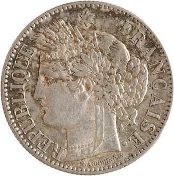 Gvt de Défense nationale, 2 francs Cérès, 1871 Bordeaux, petit K