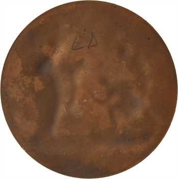 Dubois (A.) : les Bergers d'Arcadie, d'après Nicolas Poussin, médaille uniface, s.d. Paris