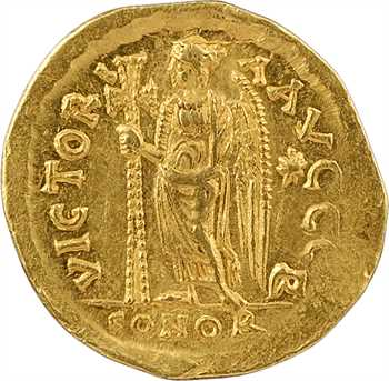 Zénon, solidus, Constantinople, 2e officine, 476-491