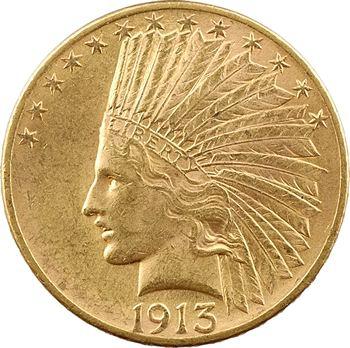 États-Unis, 10 dollars, Tête d'indien, 1913 Philadelphie