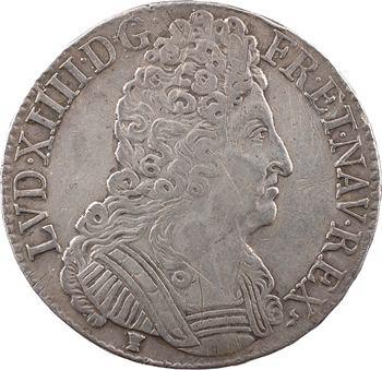 Louis XIV, écu aux trois couronnes, 1711 Rennes