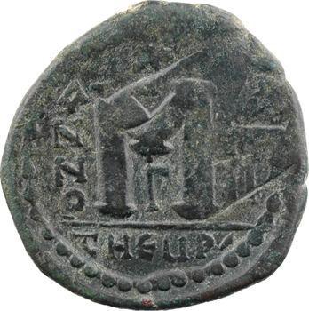 Justin II et Sophie, follis, Théoupolis (Antioche), 3e officine, An XII? = 576-578