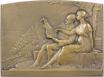 Dropsy (H.) : plaque du Touring Club de France, 1925 Paris