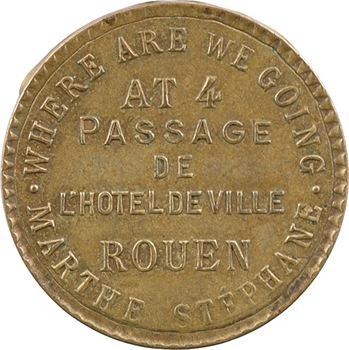 IIIe République, jeton de maison close, Marthe Stéphane (Rouen), s.d
