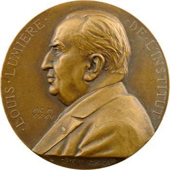 Prud'homme (G.-H.) : Louis Lumière, médaille uniface, 1935 Paris