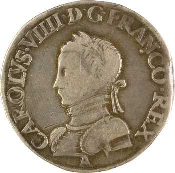 Charles IX, teston 2e type, 1562 Paris