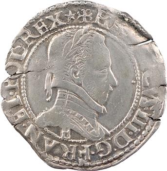 Henri III, demi-franc au col plat, 1587 Tours