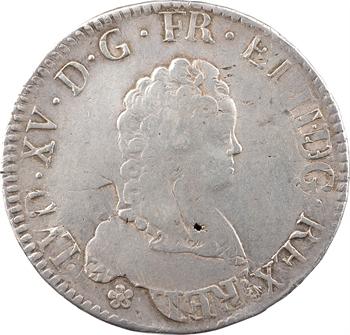 Louis XV, écu dit Vertugadin, 1717 Troyes