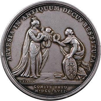 Louis XV, naissance du comte d'Artois, par Roettiers, 1757 Paris