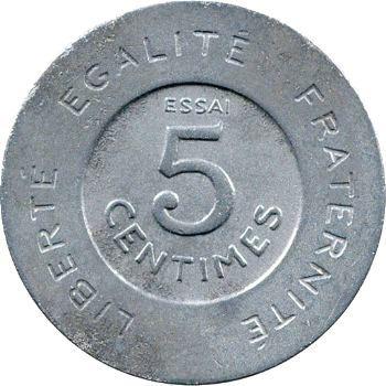 IIIe République, essai de 5 centimes par Rude, 1909