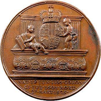 Angleterre, série des Rois par Jean Dassier, Jacques Ier, s.d. (c.1731-1732)