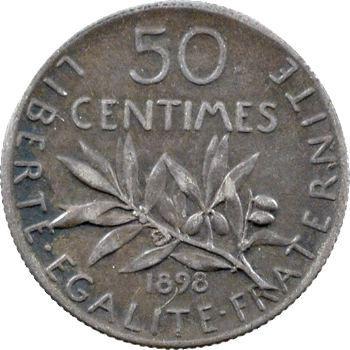 IIIe République, 50 centimes Semeuse, 1898 Paris