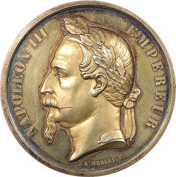 Second Empire, médaille de prix non attribuée (vermeil), s.d. Paris