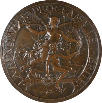 Naudé (H.) : la Renommée proclame le Mérite, fonte, s.d. (c.1900) Paris
