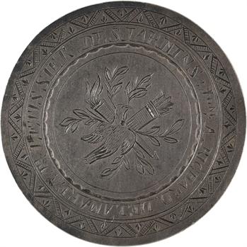 Premier Empire, médaille de mariage en taille directe, 1811