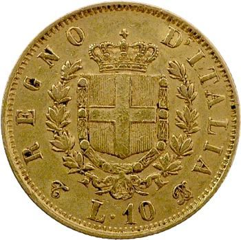 Italie (royaume d'), Victor-Emmanuel II, 10 lire, 1863 Turin