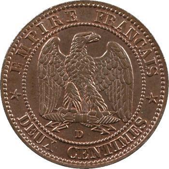 Second Empire, deux centimes tête nue, 1855 Lyon