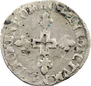 Henri III, double sol parisis, 2e type, 1588 Montpellier