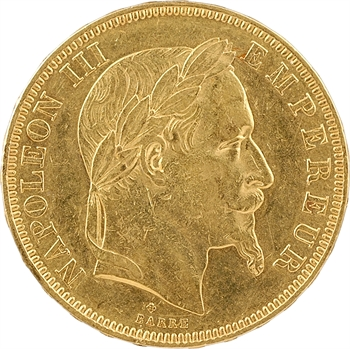 Second Empire, 50 francs tête laurée, 1862 Strasbourg