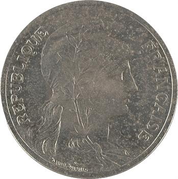 IIIe République, épreuve de 5 centimes Daniel-Dupuis en nickel, 1901 Paris