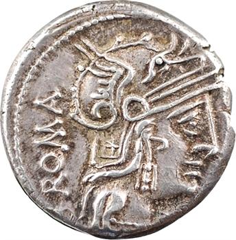 Caecilia, denier, Rome, 127 av. J.-C.