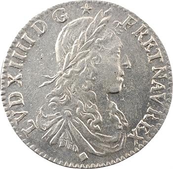 Louis XIV, douzième d'écu au buste juvénile, 1661 Lyon