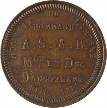 Louis XVIII, visite du duc d'Angoulême à la Monnaie de Limoges, 1814
