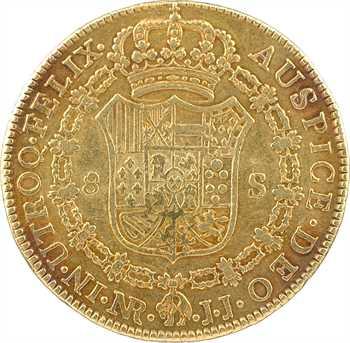 Colombie, Charles IV, 8 escudos, 1790 Nuevo Reino