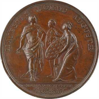Louis XV, remise des Deux-Siciles à Don Carlos d'Espagne, 1738 Paris