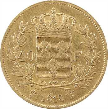 Louis XVIII, 40 francs, 1818 Lille