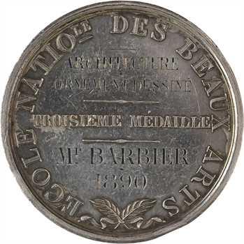 IIIe République, prix d'architecture (Beaux-Arts), par Gatteaux, 1890 Paris