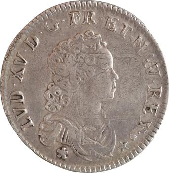 Louis XV, pièce de deux livres de Strasbourg, 1716 Strasbourg