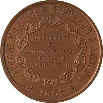 Second Empire, loterie du Musée Napoléon à Amiens, par Caqué, 1861 Paris