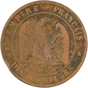 Second Empire, dix centimes tête nue, 1857 Lille