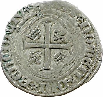 Charles VIII, blanc à la couronne, Bourges