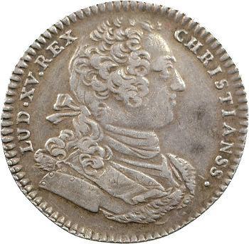 Louis XV, jeton argent des colonies françaises de l'Amérique, 1757