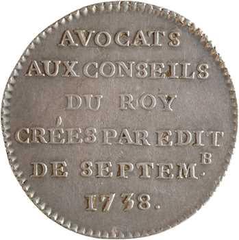 Louis XV, Avocats aux Conseils du Roi, 1738 Paris
