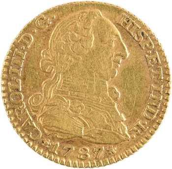 Espagne, Charles III, 1 escudo, 1787 Madrid