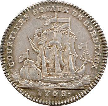 Louis XVI, jeton argent des courtiers d'assurance de Bordeaux, [1768]