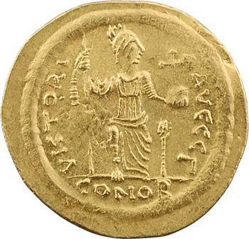 Justin II, solidus, Constantinople, 3e officine, 575-578