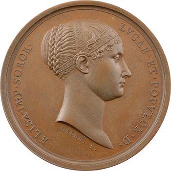Italie, Elisa Bonaparte, hommage des habitants de Montone, par Galle, 1811