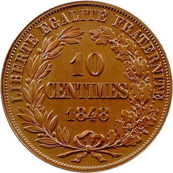 IIe République, épreuve de 10 centimes par Gayrard, 1848 Paris