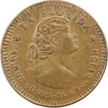 IIIe République, jeton de maison close, Madame de Los Dolores, la Florida (Dijon), s.d