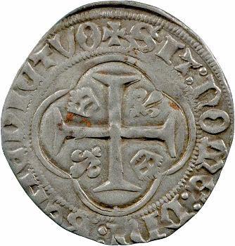 Charles VII, blanc à la couronne, 1re émission, Orléans
