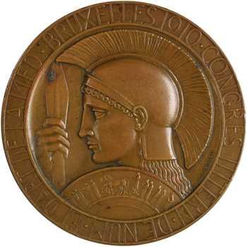 Belgique, hommage à Babelon, par Devreese, 1910 Bruxelles (épreuve d'auteur)