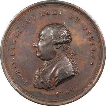 Constitution, Louis Philippe Joseph d'Orléans, médaille uniface, 1789
